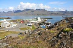 冰岛城镇 免版税库存图片