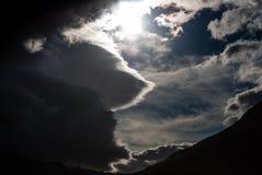 冰岛天空01 免版税库存图片
