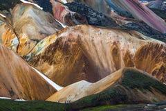 冰岛山远足者 图库摄影