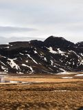 冰岛山 图库摄影