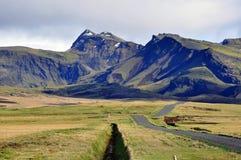 冰岛山 免版税库存图片