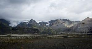 冰岛山 库存照片