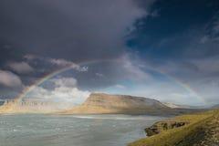冰岛彩虹 免版税库存图片