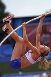 冰岛撑竿跳高妇女 库存照片