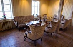 冰岛旅馆葡萄酒内部  免版税库存图片