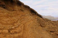 冰岛桔子地层 库存照片