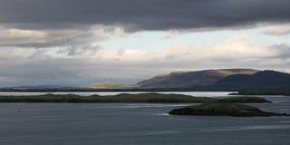 冰岛横向风暴 免版税库存图片