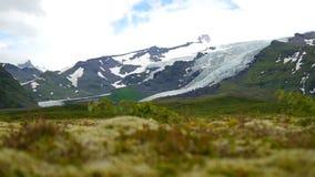 冰岛横向 山的全景在冰岛 股票录像