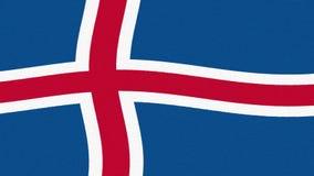 冰岛沙文主义情绪的无缝的圈新的质量独特的生气蓬勃的动态行动快乐的五颜六色的凉快的背景录影 库存例证