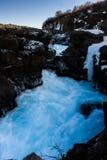 冰岛河 免版税图库摄影