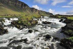 冰岛河 免版税库存图片