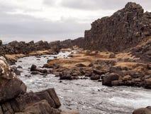 冰岛河 免版税库存照片