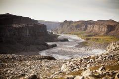 冰岛河Jokulsa海岸Fjollum 免版税图库摄影