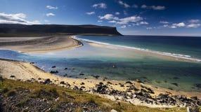 冰岛海洋海滩横向 免版税库存图片