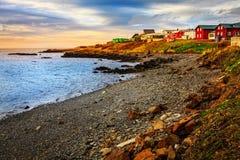 冰岛渔村 免版税库存照片