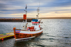冰岛渔船 免版税图库摄影