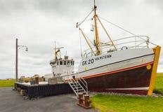冰岛渔船 免版税库存照片