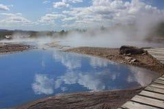 冰岛温泉城 库存图片
