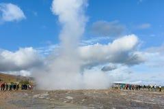 冰岛温泉城 免版税库存图片