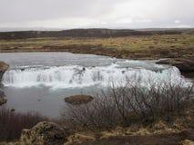 冰岛瀑布在春天 库存照片