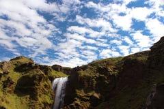 冰岛瀑布 库存图片