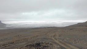 冰岛火山的空中风景 影视素材