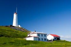 冰岛灯塔 库存图片