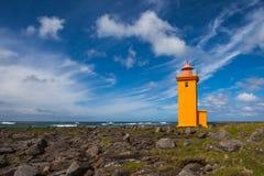 冰岛灯塔 免版税库存照片