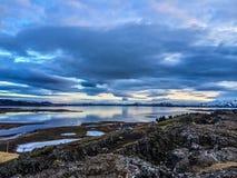 冰岛的中心 图库摄影