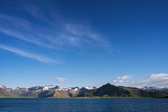 冰岛的夏天风景 免版税库存照片