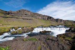 冰岛的小河 库存照片