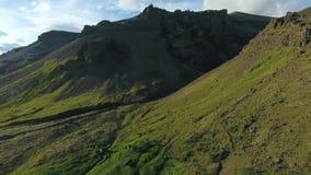 冰岛的山腰的鸟瞰图 安德列耶夫 影视素材