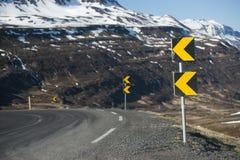 冰岛的山路从 库存图片