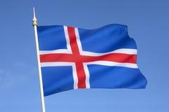 冰岛的旗子 免版税图库摄影