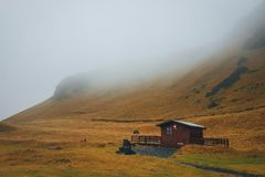 冰岛的独特和美丽的土地 库存照片