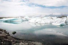 冰岛的美丽的Glacier湖 免版税库存图片