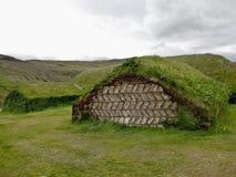 从冰岛的草皮房子 免版税图库摄影