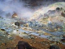 冰岛硫磺火山作用 免版税库存图片
