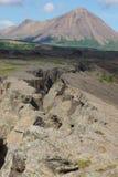 冰岛缺点显示我们地面运动 图库摄影