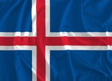 冰岛背景旗子  库存例证
