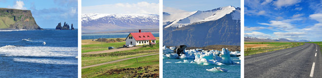 冰岛背景 免版税库存照片