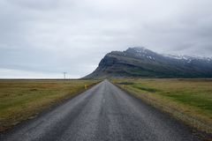 冰岛荒芜 免版税库存照片