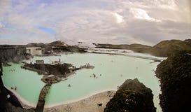 冰岛蓝色盐水湖 库存图片