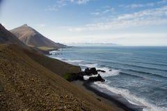 冰岛语东部的海湾 库存图片
