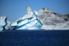 冰岛语的冰山 库存图片