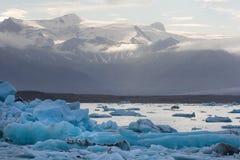 冰岛语的冰山 图库摄影