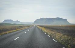 冰岛路 库存照片