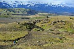 冰岛远足 免版税库存照片
