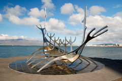 冰岛雷克雅未克solfar星期日航海者 图库摄影
