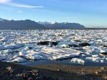 冰岛风景冰川 图库摄影